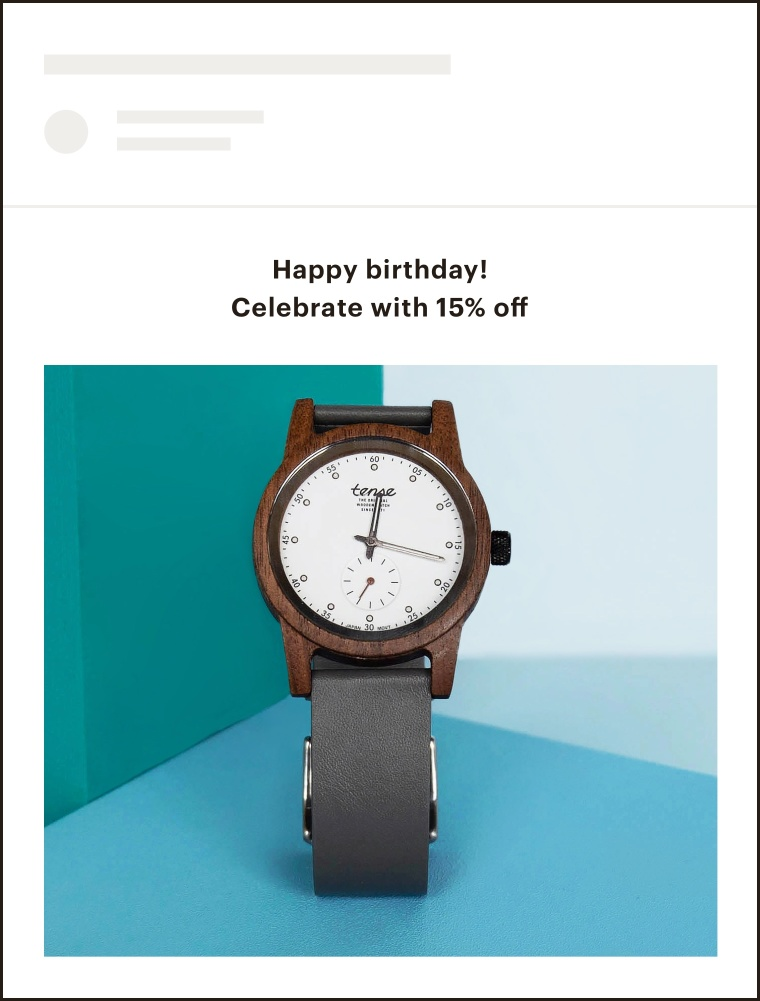 An example of a date-based email.
