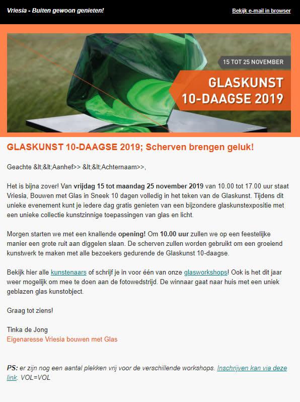 Image of Glaskunst newsletter