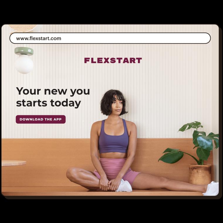 A website for a company called Flexstart that uses the domain flexstart.com