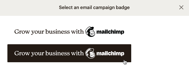 select badge modal