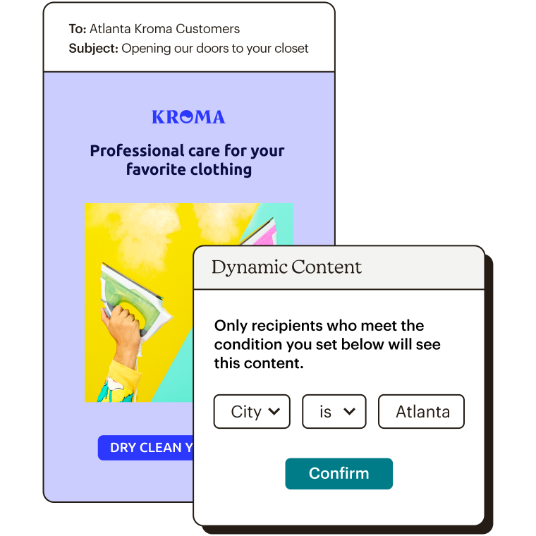 Dynamic Content Choosing Your Target Audience Abstract UI