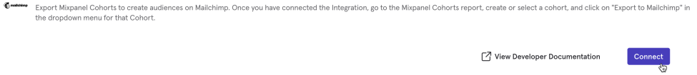 Mixpanel Integration Connect