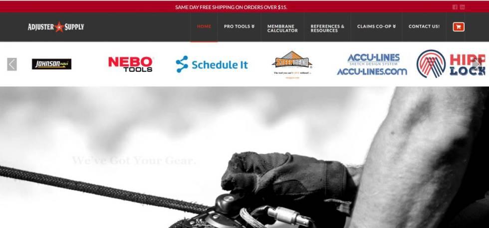 Screenshot of custom website design.