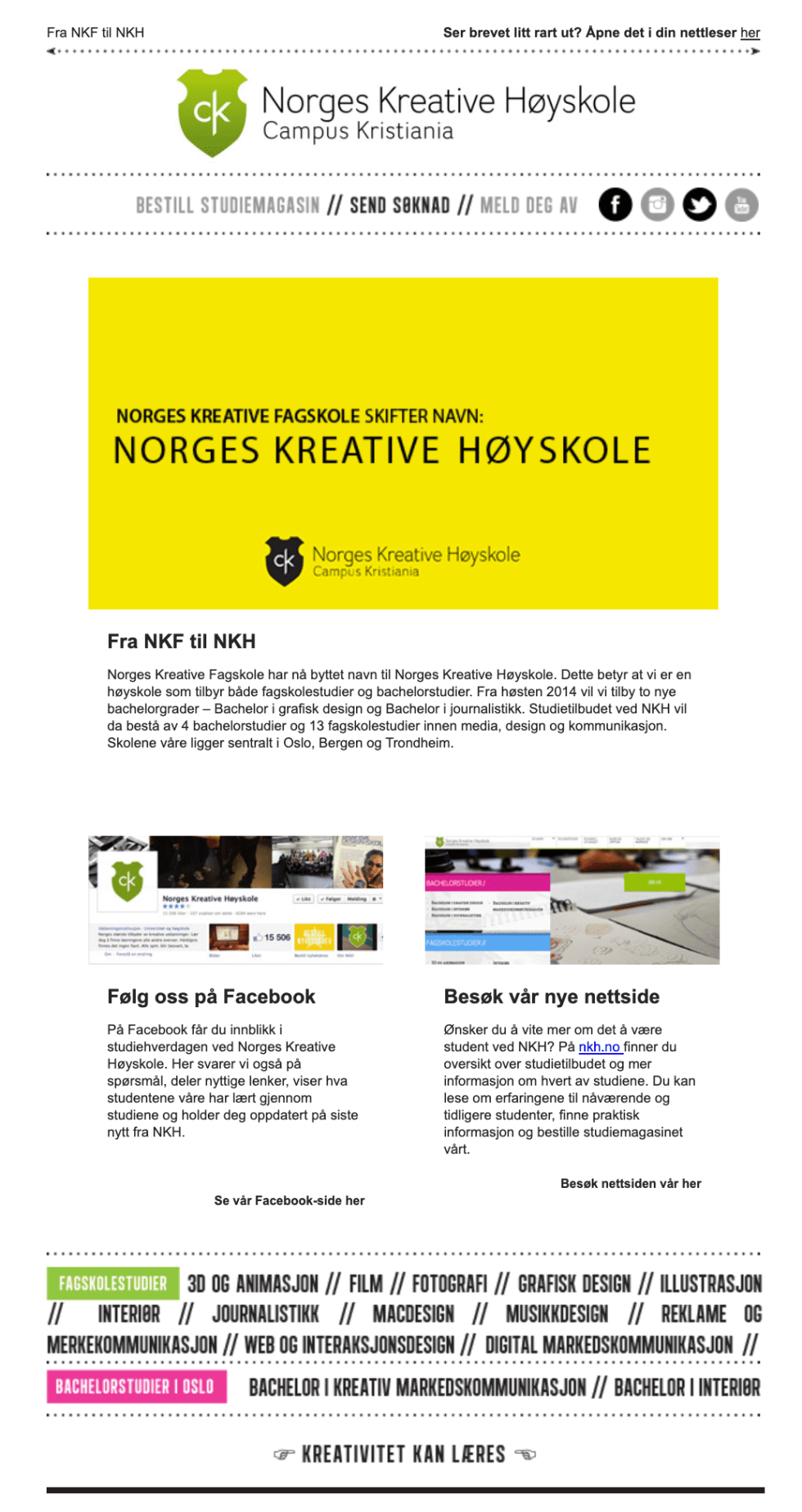 Image of Norges Kreative Newsletter