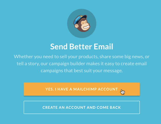 Mailchimp for Volusion app - cursor clicks - yes I have an account