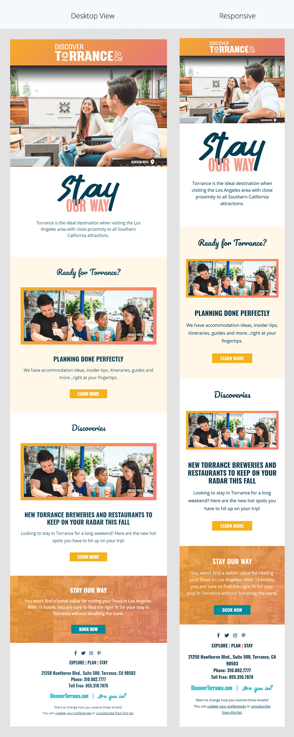 Image of Discover Torrance newsletter