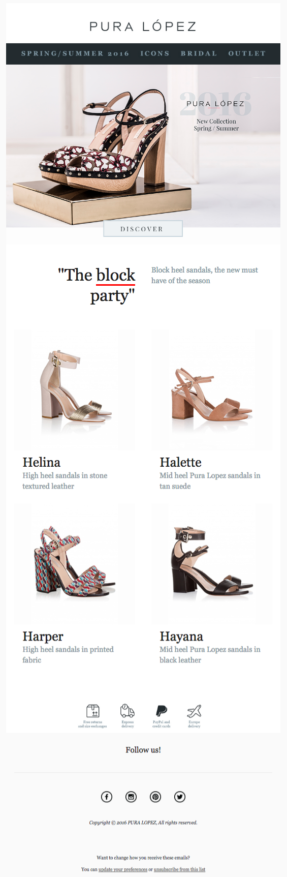 Image of a webpage selling shoes