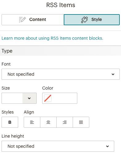 RSSitemblock Styletab