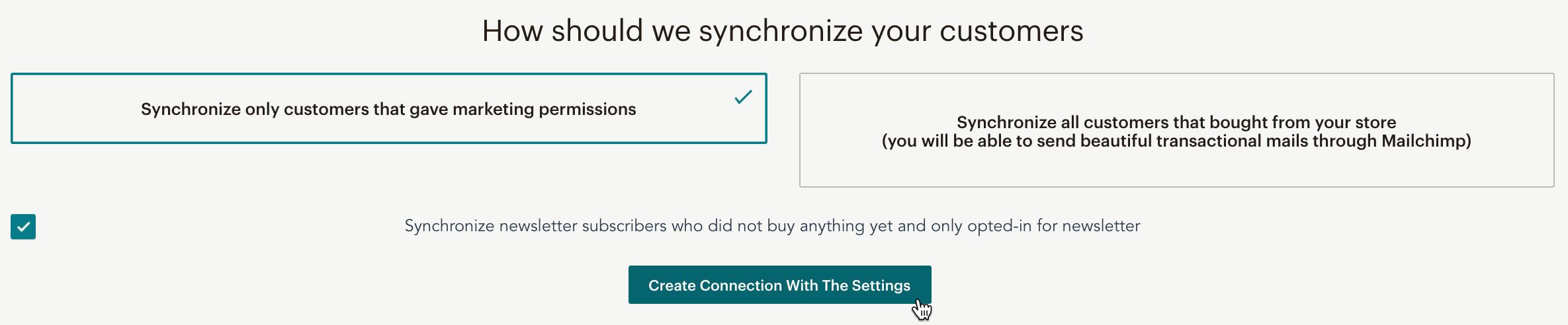 Cursor clicks - Create Connection - Shopware 6