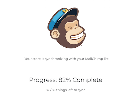 Mailchimp for LemonStand Sync Progress modal