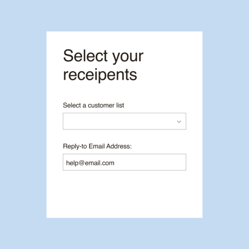 Zendesk campaign - select recepients