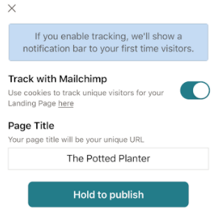 Mobile-landing-hold-to-publish