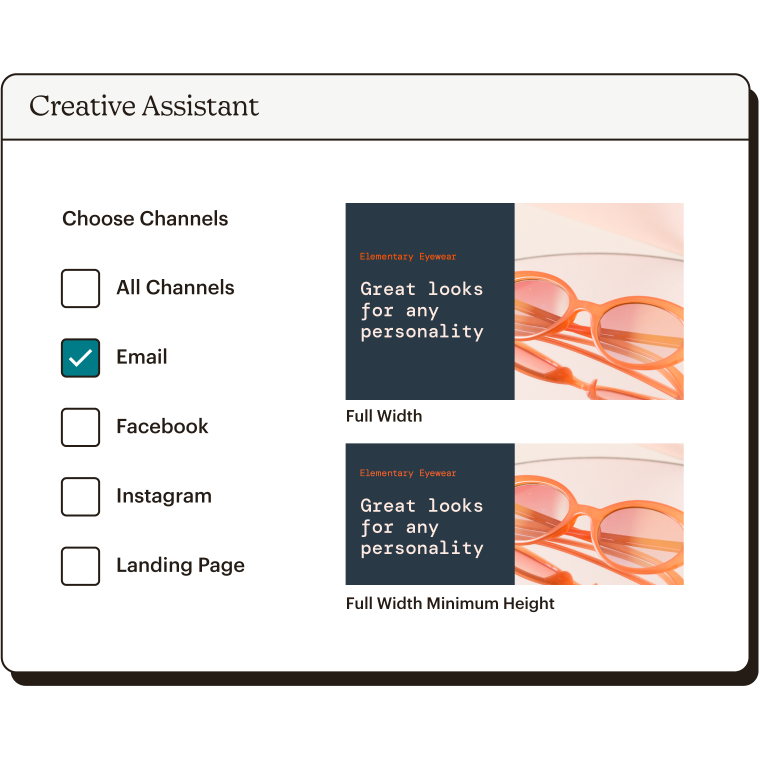Choose Channels Publish Email Creative Assistant Abstract UI Static