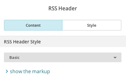 Add content to RSS Header block
