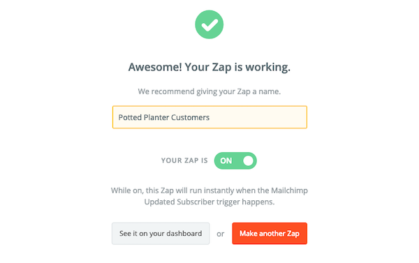 Name Your Zap - Zapier