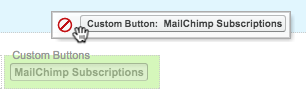 Cursor clicks and drags Mailchimp Subscriptions.