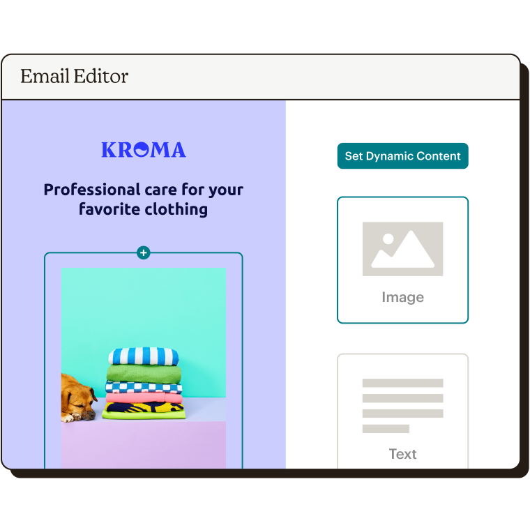 Dynamic Content Email Editor Abstract UI