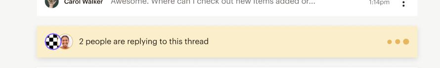 Inbox reply activity bar