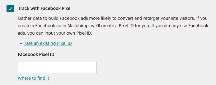 Enter your Pixel ID into the field.