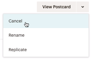 dropdown-viewpostcard-choosecancel