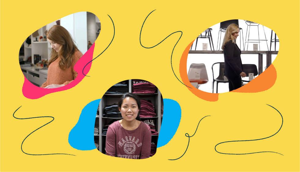 Kristen Lambert of Third Piece, Lekker Home founder Natalie van Dijk, and Christi Lee, marketing manager for The Harvard Shop