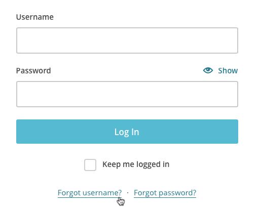 Click I forgot on the login screen.
