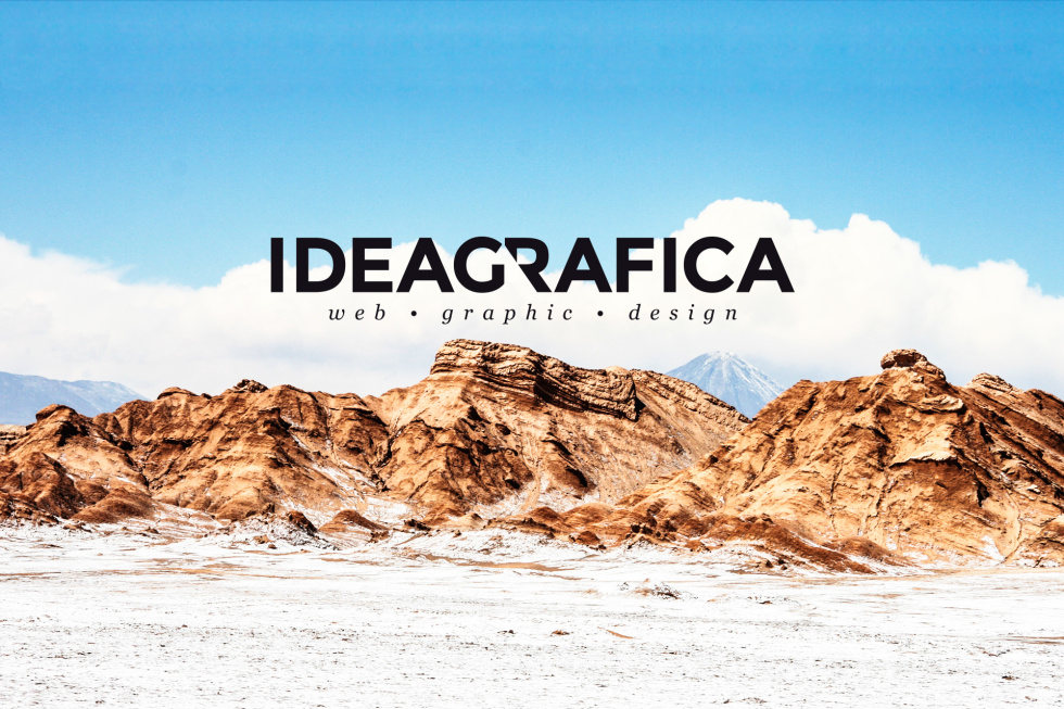 Image of mountains with ideaGrafica's logo