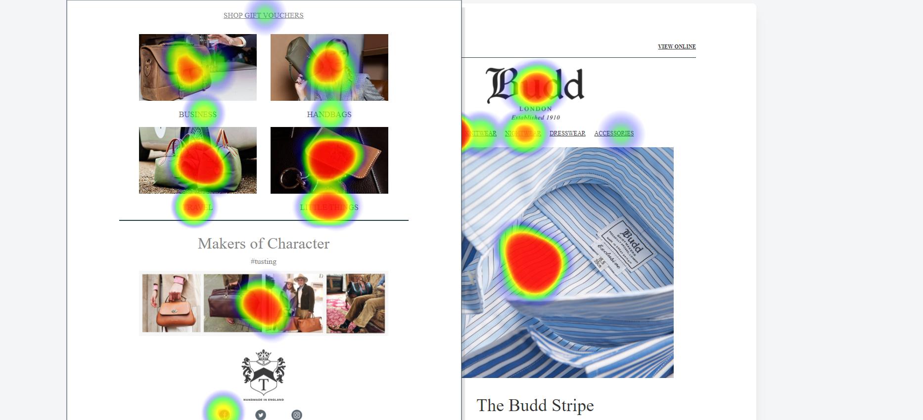 Asset 1 - Email Heatmaps Integration - Example heatmap budd testing
