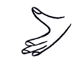 Illustration of an open right hand