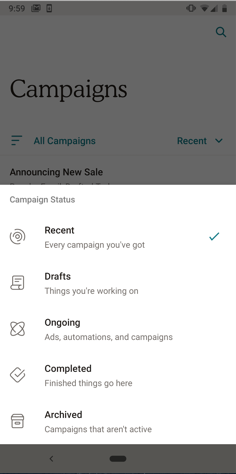 Campaign-filter-options