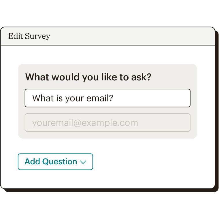 In-app view of editing a survey question.