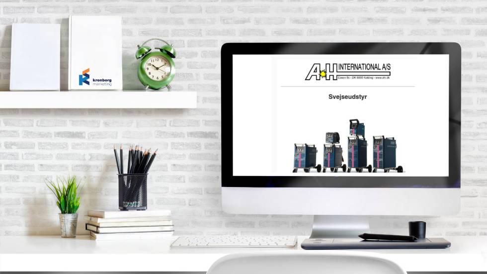 Picture of desktop displaying website.