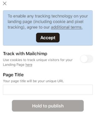 Mobile-landing-page-tracking
