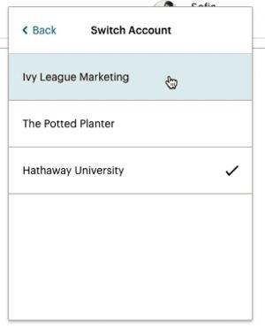 Cursor Click - Switch Account - Choose Account