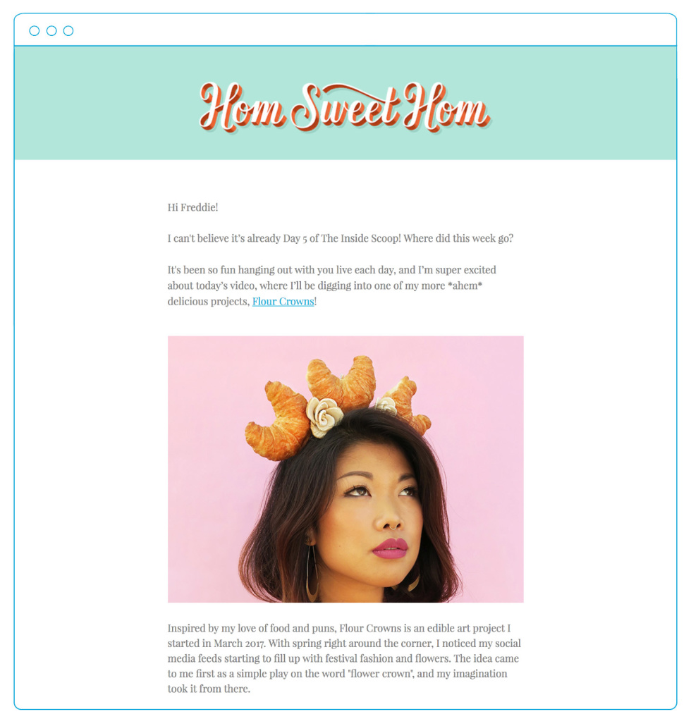 The inside scoop on landing pages with hom sweet hom after each days livestream contacts would receive an email recapping that days lesson izmirmasajfo