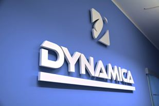 Image of Dynamica logo on a wall