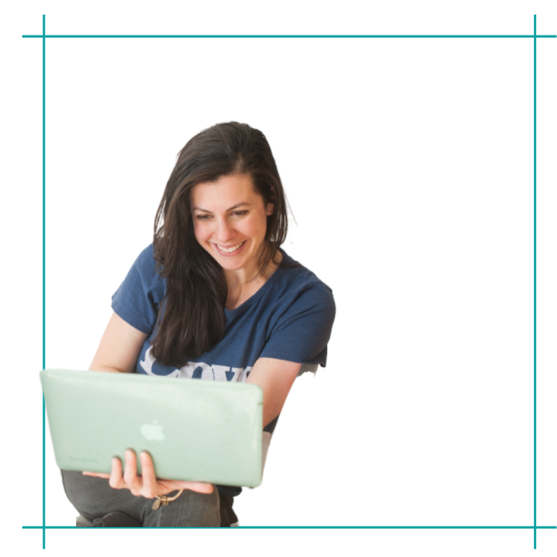 Image of woman looking at a computer