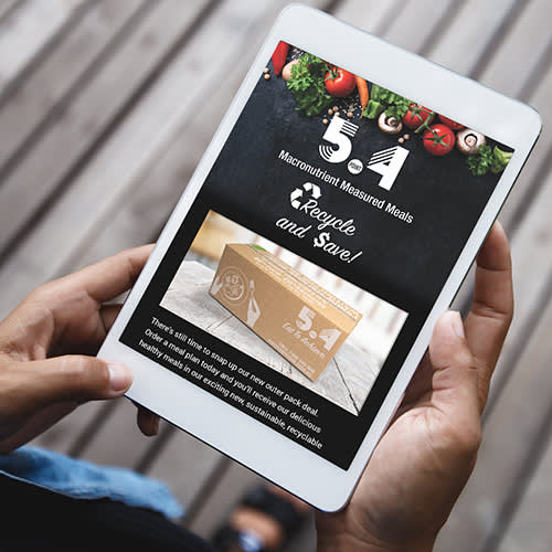 Image of a website on a tablet