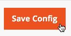El cursor hace clic en Guardar configuración