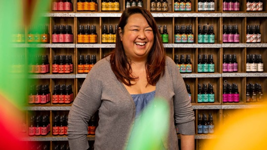 Photo of owner Kim Wong.