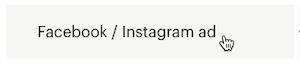 Cursor Clicks - Facebook Instagram Ad - Create icon