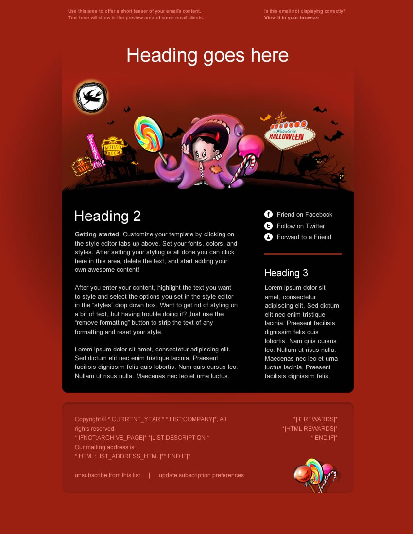 Image of Halloween newsletter layout