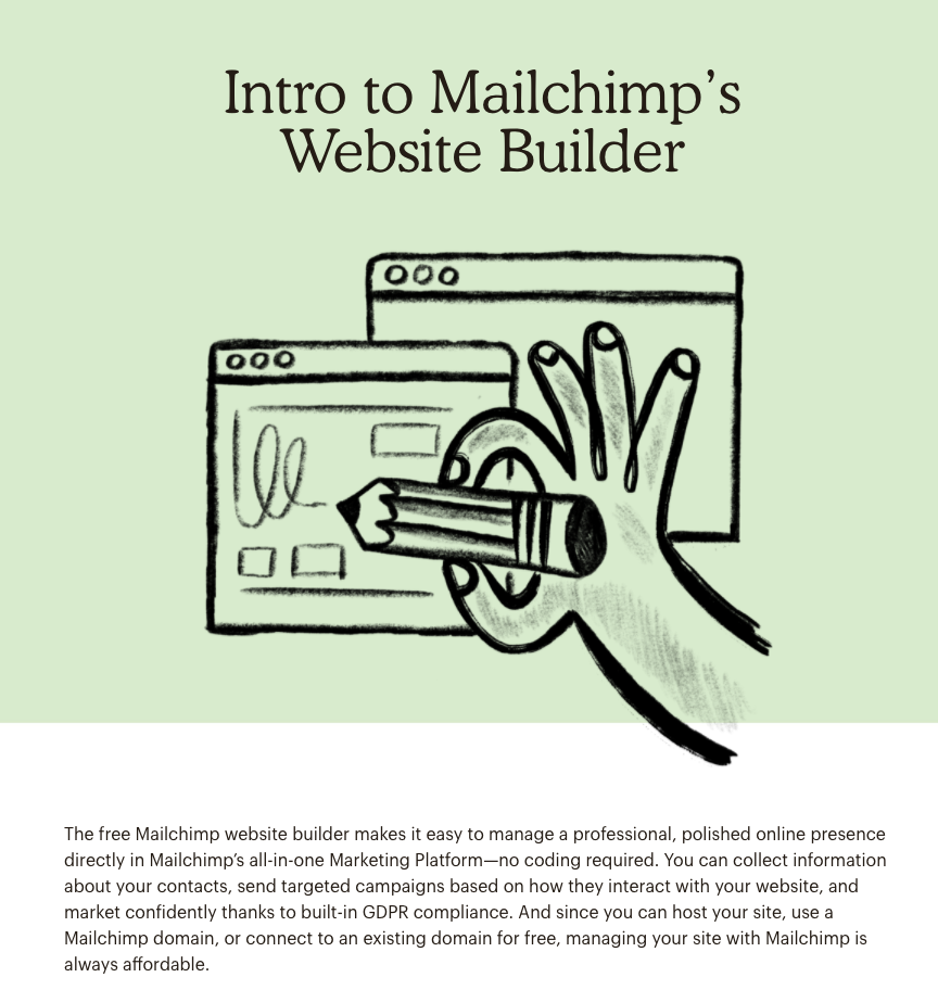 Mailchimp Academy Course Homepage