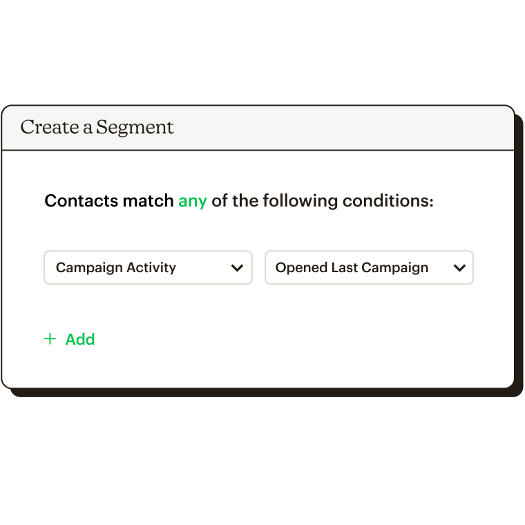 Creating a segment based on who opened last campaign.