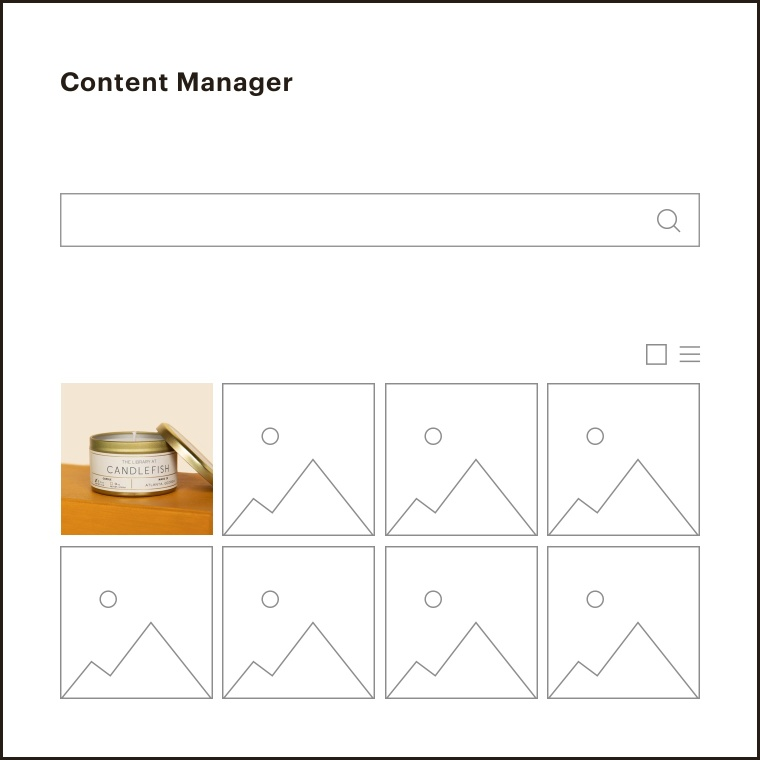 An image of photos in the content manager.