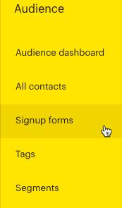 left-nav signup form click