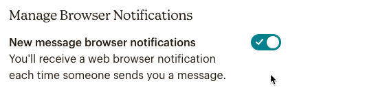 new message browser notifications