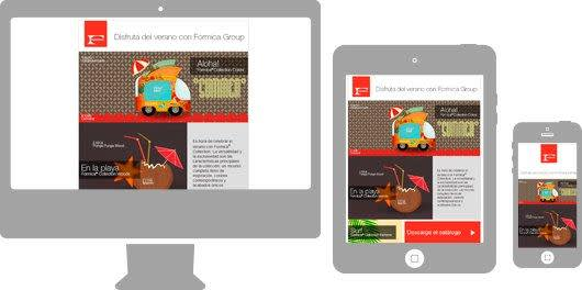 Image of advertisements on multiple devices