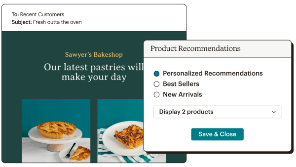 Product Recommendations Abstract UI Sawyers Bakeshop Wide Static