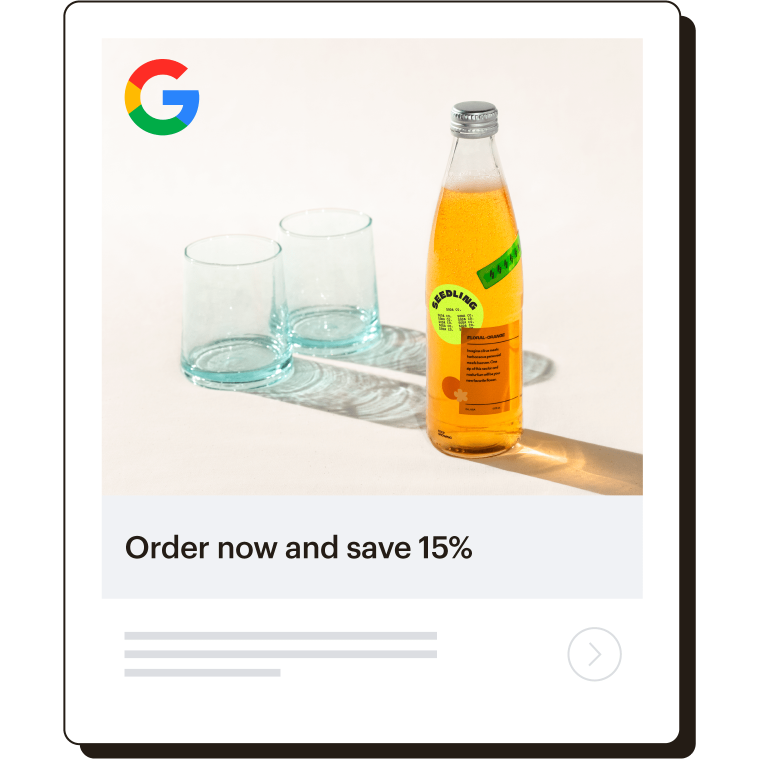 Example of a Google ad.